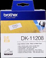 Brother Adress-Etiketten DK-11208 Schwarz auf Weiß