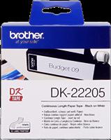 Brother Endlosetikett Papier DK-22205 Schwarz auf Weiß