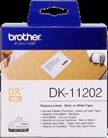 Brother Versand-Etiketten DK-11202 Schwarz auf Weiß