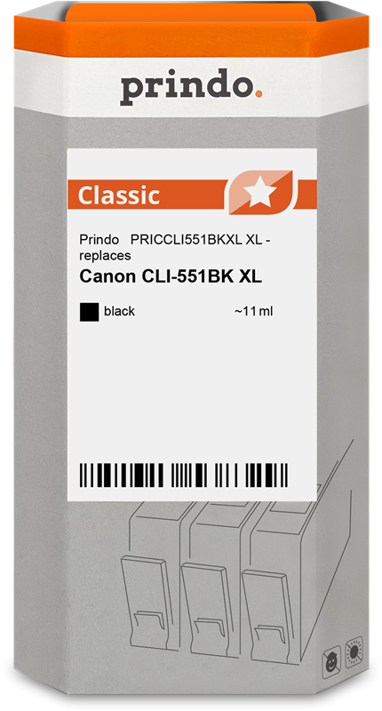 Druckerpatrone Prindo PRICCLI551BKXL
