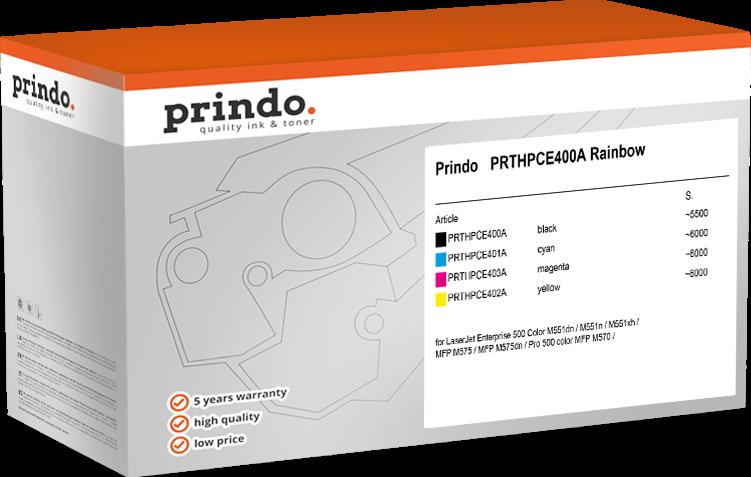 Value Pack Prindo PRTHPCE400A Rainbow